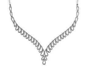 White Cubic Zirconia Rhodium Over Silver Necklace 7.00ctw