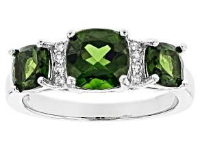 Pre-Owned Green Chrome Diopside Sterling Silver Ring 2.45ctw
