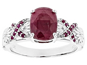Pre-Owned Red Ruby Sterling Silver Ring 2.48ctw