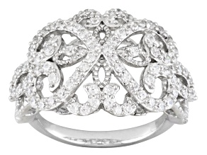 Cubic Zirconia Sterling Silver Ring 1.70ctw