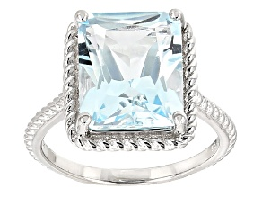 Sky Blue Topaz Sterling Silver Ring 6.63ct
