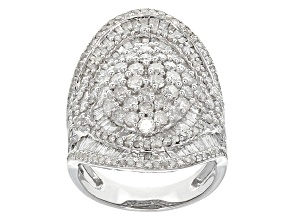 Pre-Owned Diamond 10k White Gold Ring 3.35ctw