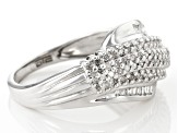 Pre-Owned White Diamond Rhodium Over Sterling Silver Ring .33ctw