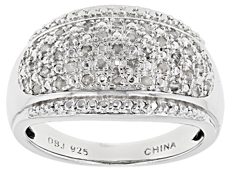 c0023b6e4 Pre-Owned White Diamond Rhodium Over Sterling Silver Ring .25ctw ...