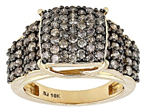 Pre-Owned Champagne Diamond 10k Yellow Gold Ring 2.00ctw