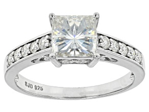Pre-Owned Moissanite Platineve Ring 2.00ctw D.E.W