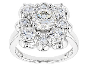 Pre-Owned Moissanite Platineve Ring 3.04ctw D.E.W