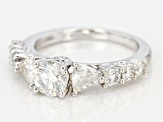 Pre-Owned Moissanite Platineve Ring1.94ctw D.E.W