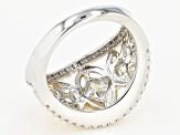 Moissanite Fire(R) 2.74ctw DEW Platineve(TM) And 14k Yellow Gold Over Platineve Two Tone Ring