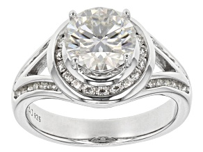 Pre-Owned Moissanite Fire(R) 2.54ctw Diamond Equivalent Weight Round Platineve(TM) Ring