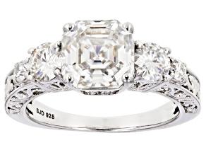 Moissanite Platineve™ ring 3.74ctw DEW