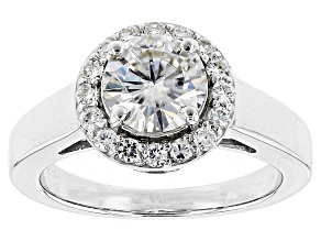Pre-Owned Moissanite Ring Platineve(TM) 1.44ctw DEW