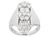 Pre-Owned Moissanite Ring Platineve(TM) 2.10ctw DEW