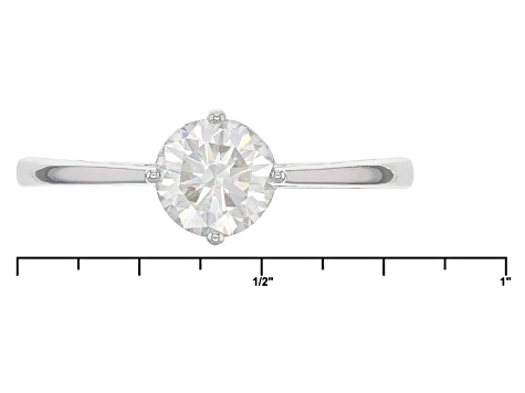 Pre-Owned Moissanite Platineve Ring .80ct D.E.W