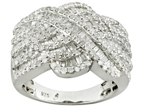 Pre-Owned Diamond Rhodium Over Sterling Silver Ring 2.00ctw