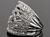 Pre-Owned Diamond Rhodium Over Silver Ring 1.00ctw