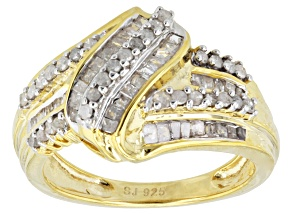 Pre-Owned Diamond 14k Yellow Gold Over Sterling Silver Ring