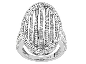 Pre-Owned White Diamond Sterling Silver Ring 1.00ctw