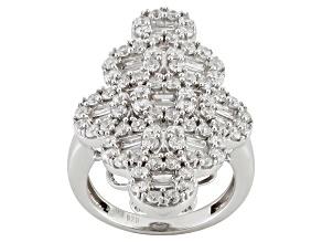 Cubic Zirconia Silver Ring 4.20ctw (2.70ctw DEW)
