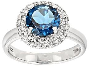 London Blue Topaz Sterling Silver Ring 2.31ctw