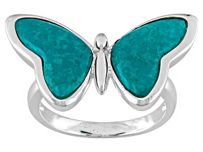 Turquoise Sterling Silver Butterfly Ring