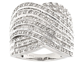Diamond Silver Ring 1.00ctw