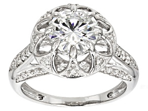 Moissanite Ring Platineve™ 2.48ctw DEW.