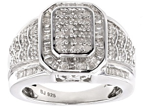 Diamond Sterling Silver Ring 1.10ctw