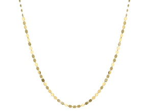10k Yellow Gold Mirror Chain Necklace 24 inch