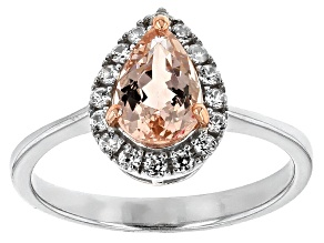 Pink Morganite Sterling Silver Ring 1.17ctw