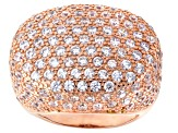 Cubic Zirconia 18k Rose Gold Over Silver Ring 9.20ctw