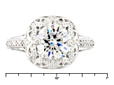 White Cubic Zirconia Rhodium Over Sterling Silver Ring 3.79ctw
