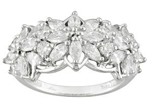 Cubic Zirconia Silver Ring 3.42ctw (2.00ctw DEW)