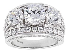 Cubic zirconia silver ring 9.58ctw