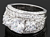 Cubic zirconia silver ring 9.58ctw