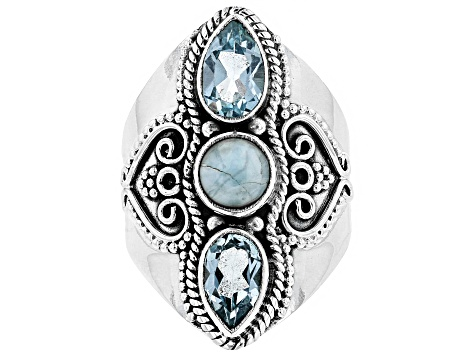 Pre-Owned Blue Topaz Sterling Silver Ring 2.40ctw
