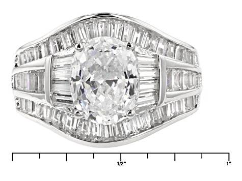 Pre-Owned Cubic Zirconia Silver Ring 6.95ctw