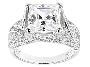 Pre-Owned White Cubic Zirconia Sterling Silver Ring 8.19ctw