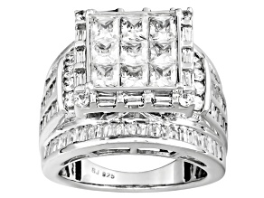 Pre-Owned Cubic Zirconia Platineve Ring 6.47ctw