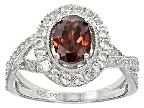 Pre-Owned Red Zircon Sterling Silver Ring 2.85ctw