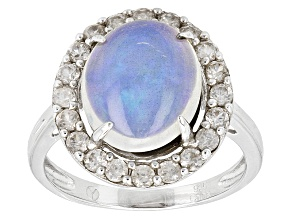 Pre-Owned Ethiopian Opal Sterling Silver Ring 3.30ctw