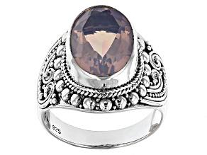Lavender Quartz Sterling Silver Ring 4.89ctw