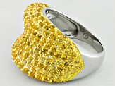 Pre-Owned Yellow Citrine Sterling Silver Ring 3.50ctw