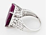 Pre-Owned Red india Ruby Sterling Silver Ring 11.50ct