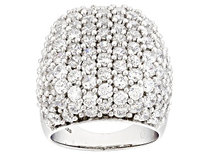 Cubic Zirconia Silver Ring 14.85ctw