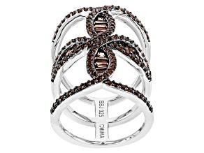 Red Garnet Sterling Silver Ring 2.26ctw