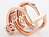 Pre-Owned Cubic Zirconia 18k Rose Gold Over Silver Ring 2.46ctw