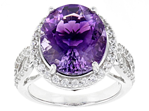 Pre-Owned Purple Moroccan Amethyst Sterling Silver Ring 6.95ctw