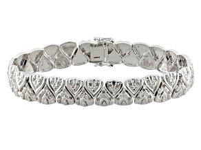 Pre-Owned White Diamond Rhodium Over Brass Bracelet 1.00ctw
