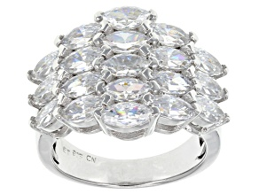 Cubic Zirconia Silver Ring 7.79ctw